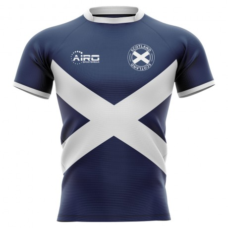 2019-2020 Scotland Flag Concept Rugby Shirt