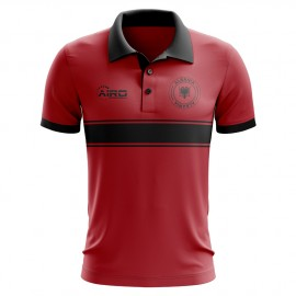 c9b80a4f3 Albania Concept Stripe Polo Shirt (Red)