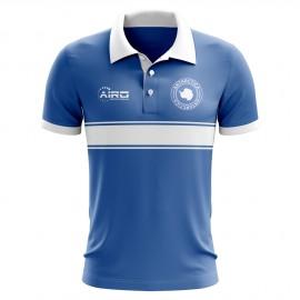 24ddec3f4e4 Antarctica Concept Stripe Polo Shirt (Blue)