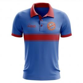 DR Congo Concept Stripe Polo Shirt (Blue)