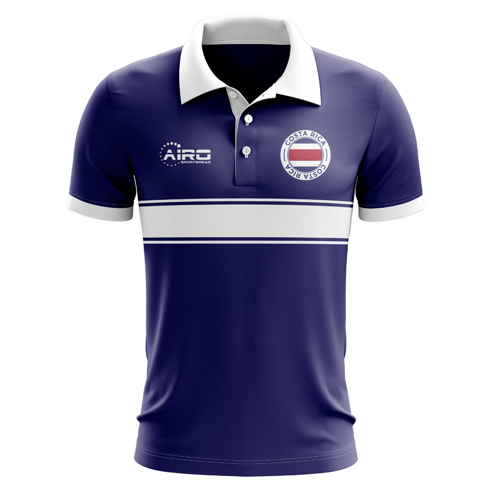4ffbc7c26 Costa Rica Concept Stripe Polo Shirt (Navy) - Kids