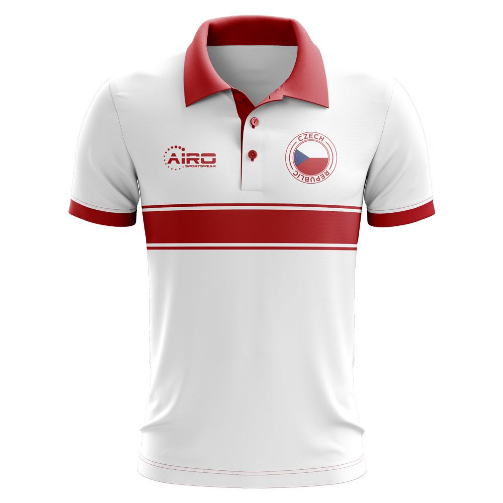c16f73f1d7b Czech Republic Concept Stripe Polo Shirt (White) - Kids