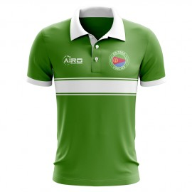 Eritrea Concept Stripe Polo Shirt (Green)