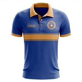 Kosovo Concept Stripe Polo Shirt (Blue)