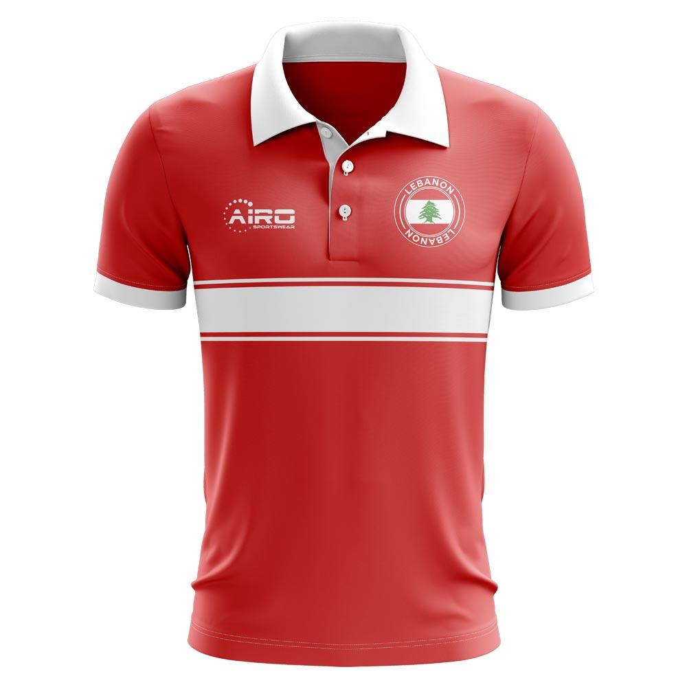 Lebanon Concept Stripe Polo Shirt (Red) - Kids