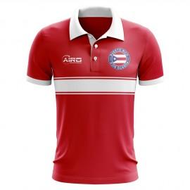 Puerto Rico Concept Stripe Polo Shirt (Red)
