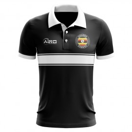 Uganda Concept Stripe Polo Shirt (Black) - Kids
