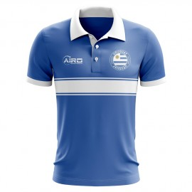 Uruguay Concept Stripe Polo Shirt (Blue)