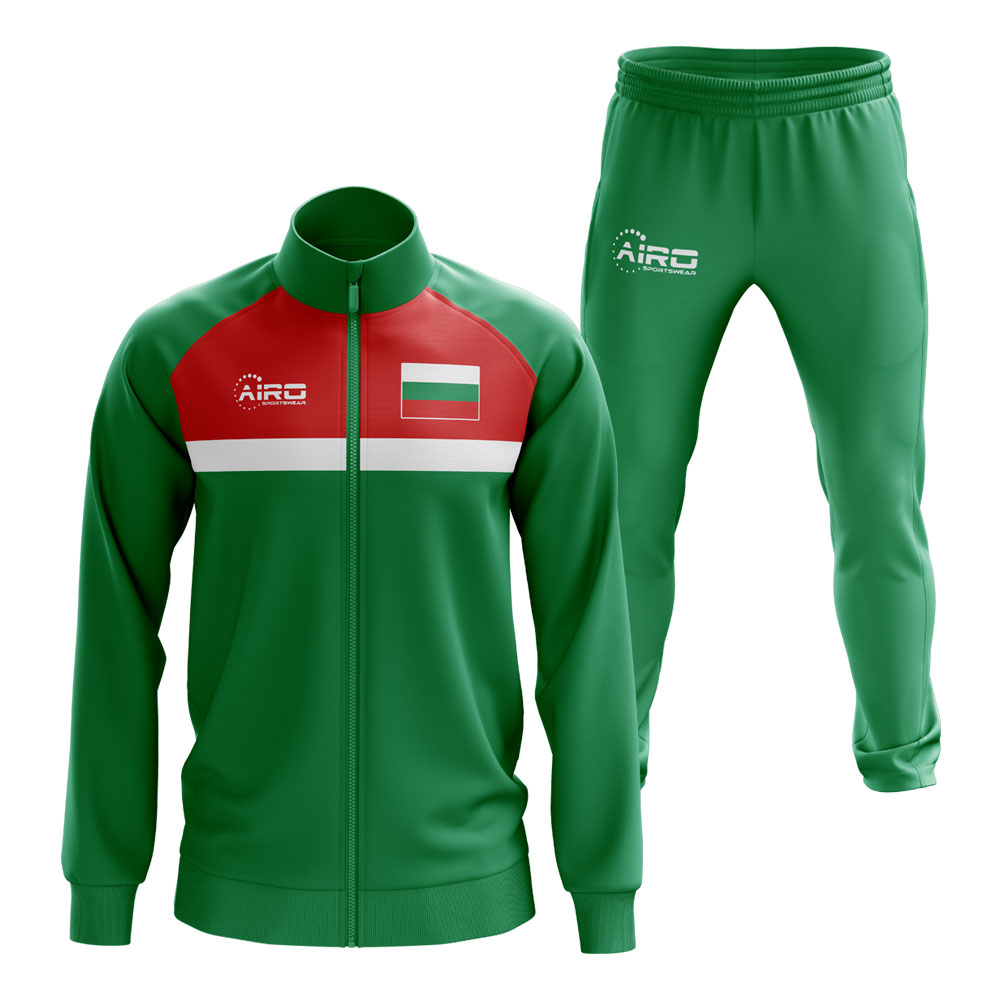 Bulgaria Concept Football Tracksuit (Green)