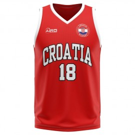 Croatia Home Concept Basketball Shirt