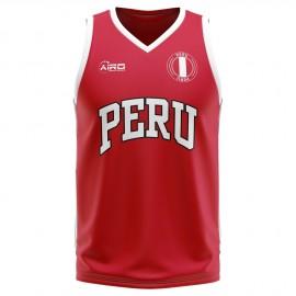 Peru Home Concept Basketball Shirt