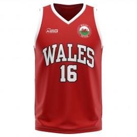 Wales Home Concept Basketball Shirt