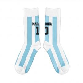 Argentina 1986 Diego Maradona Retro Socks