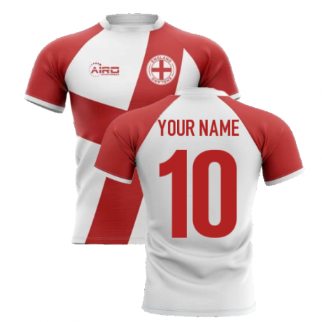 2020-2021 England Flag Concept Rugby Shirt (Your Name)
