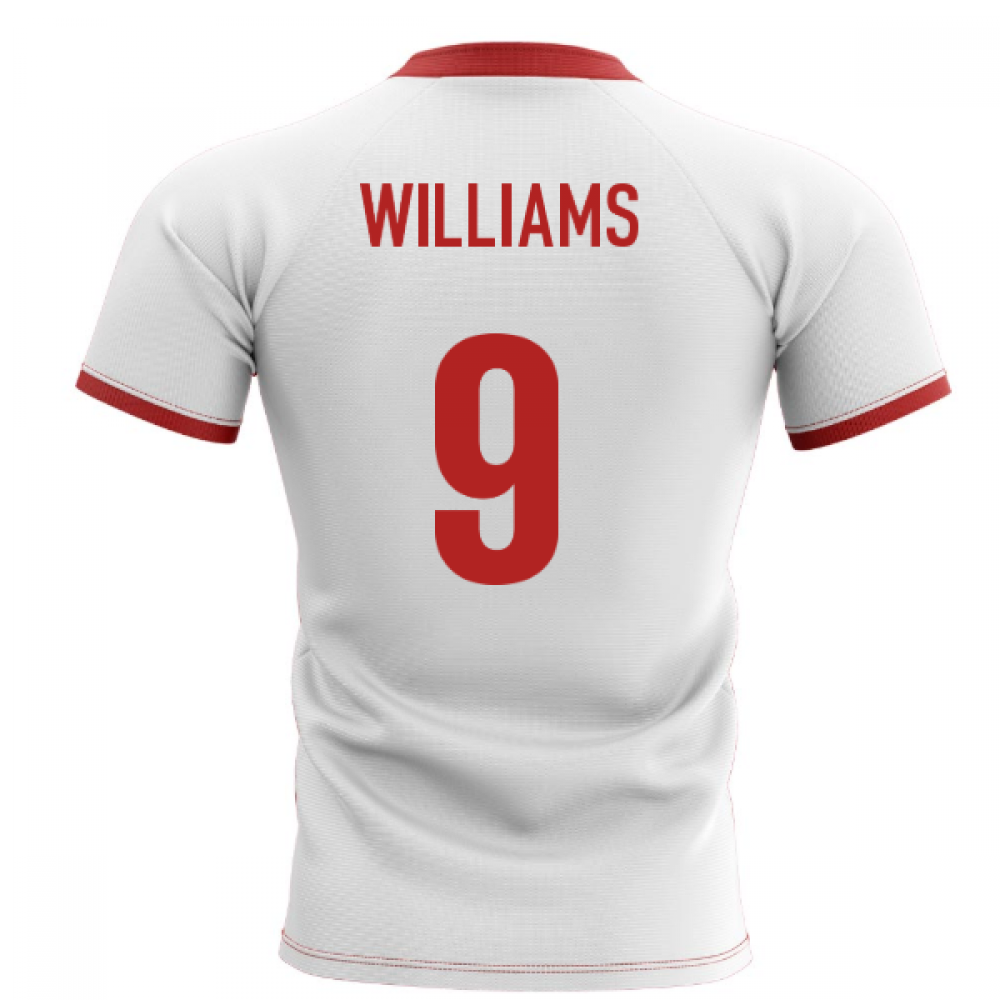 2020-2021 Wales Flag Concept Rugby Shirt (Williams 9)