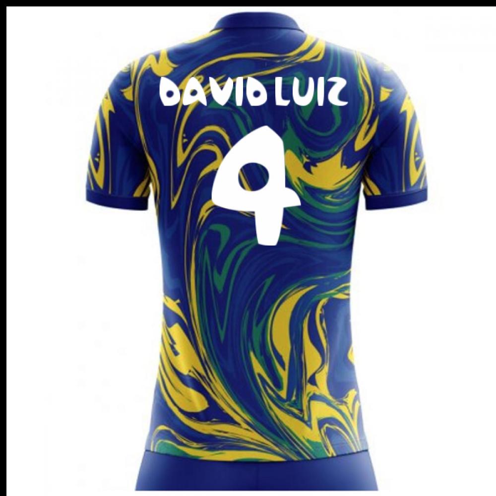 2018-19 Brazil Away Concept Shirt (David Luiz 4)