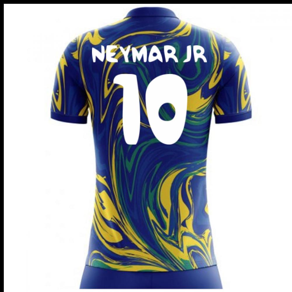 the best attitude dd2fe 39e07 2018-19 Brazil Away Concept Shirt (Neymar Jr 10)