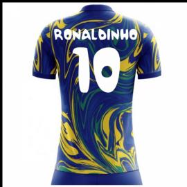 2018-19 Brazil Away Concept Shirt (Ronaldinho 10) - Kids