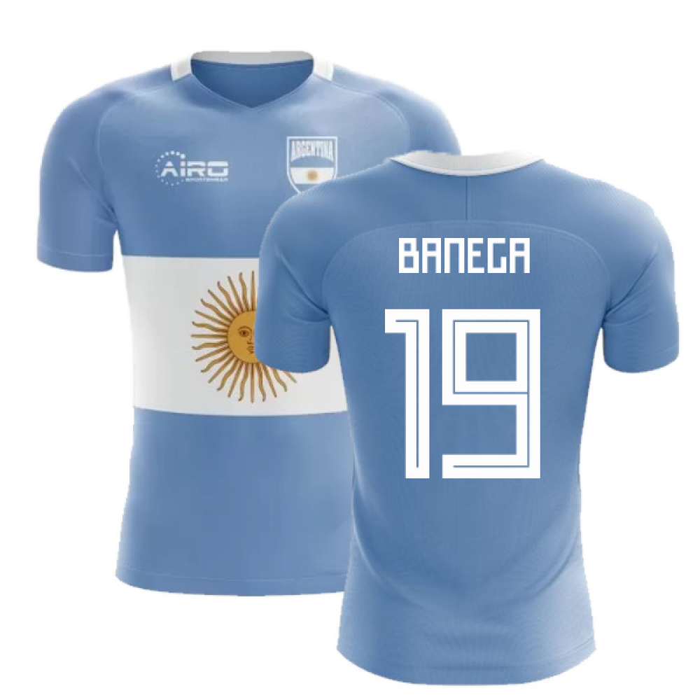 2313cbda6ad 2018-2019 Argentina Flag Concept Football Shirt (Banega 19) - Kids