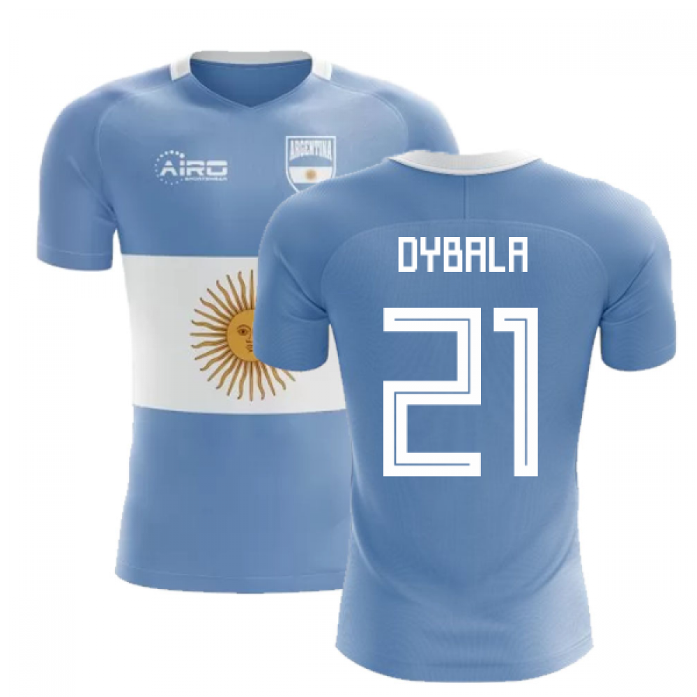 new arrival 13551 efdde 2018-2019 Argentina Flag Concept Football Shirt (Dybala 21 ...
