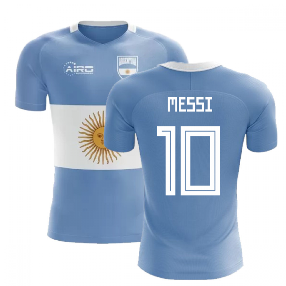 timeless design 62e13 e19a1 2018-2019 Argentina Flag Concept Football Shirt (Messi 10 ...