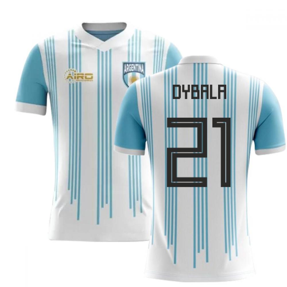 purchase cheap 9b097 fba02 2018-2019 Argentina Home Concept Football Shirt (Dybala 21 ...