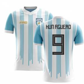 2018-2019 Argentina Home Concept Football Shirt (Kun Aguero 9) - Kids