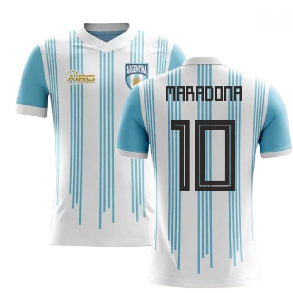 2018-2019 Argentina Home Concept Football Shirt (Maradona 10)