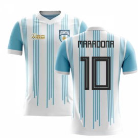 3a8bdefb63c 2018-2019 Argentina Home Concept Football Shirt (Maradona 10) - Kids