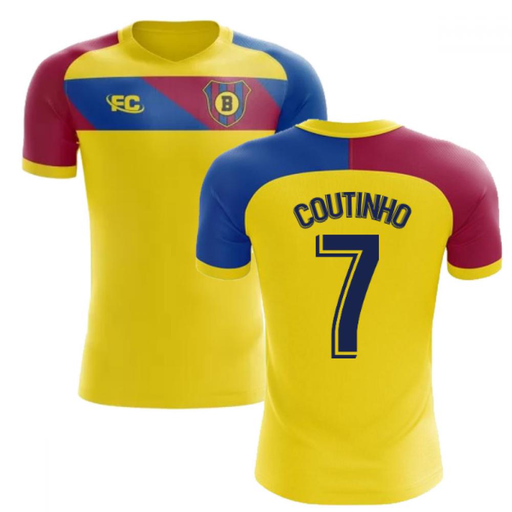 check out ba006 ec09a 2018-2019 Barcelona Fans Culture Away Concept Shirt (Coutinho 7)