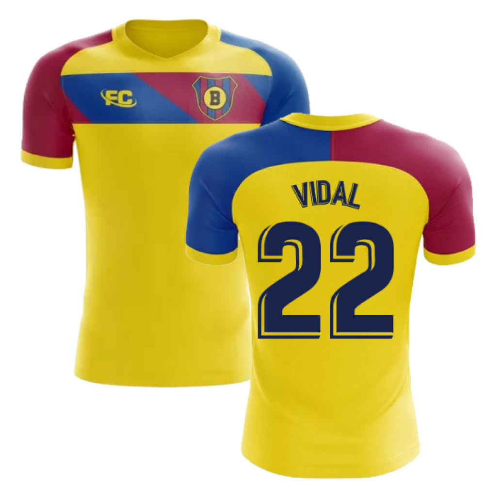 new products 4117f 25279 2018-2019 Barcelona Fans Culture Away Concept Shirt (Vidal 22)