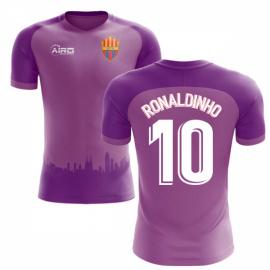 2018-2019 Barcelona Third Concept Football Shirt (Ronaldinho 10) - Kids