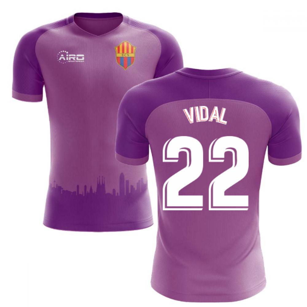 check out 19498 c3382 2018-2019 Barcelona Third Concept Football Shirt (Vidal 22)