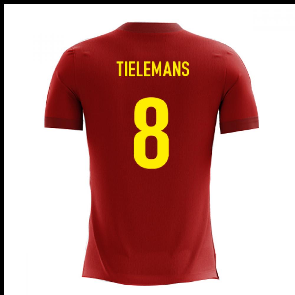 2020-2021 Belgium Airo Concept Home Shirt (Tielemans 8)