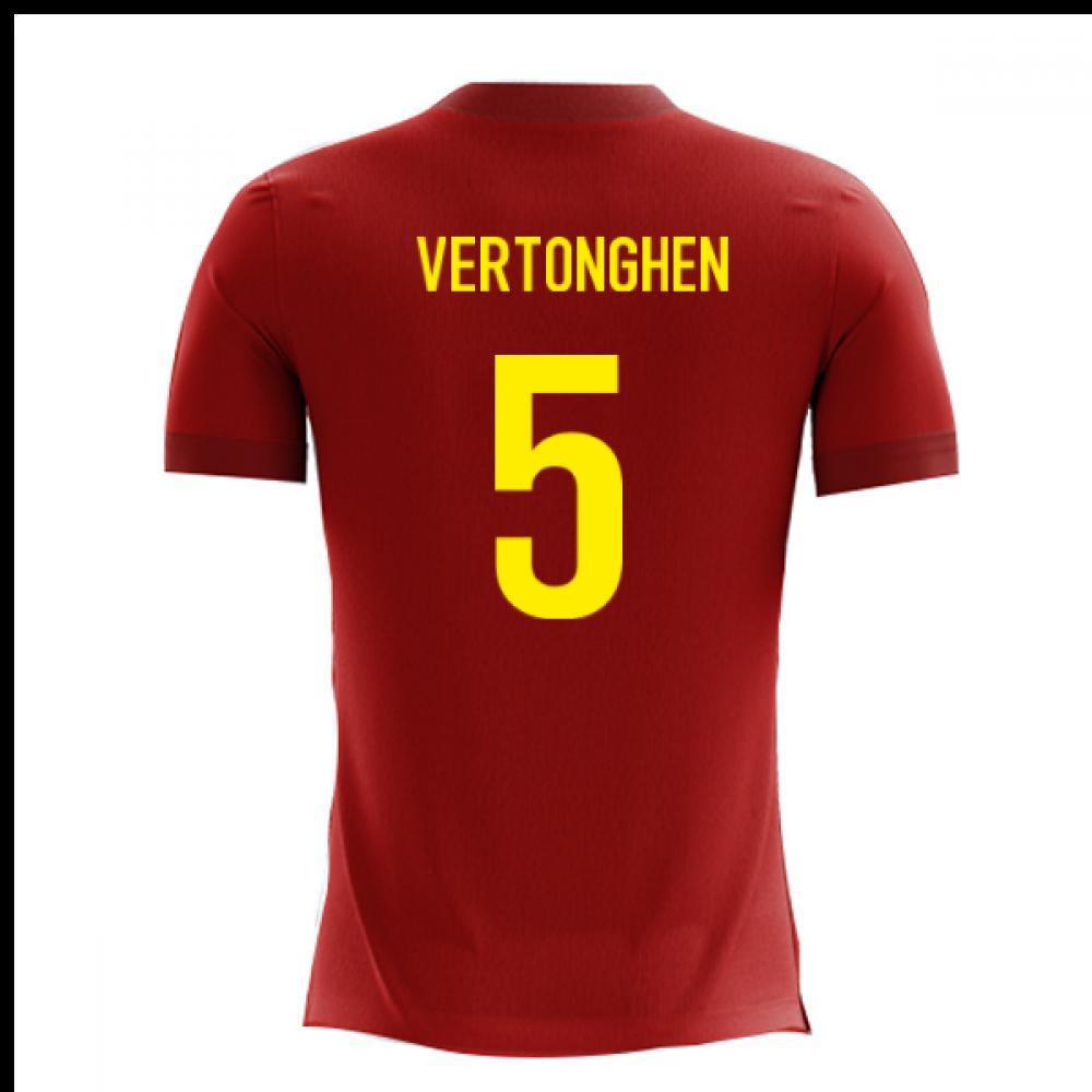 2020-2021 Belgium Airo Concept Home Shirt (Vertonghen 5)