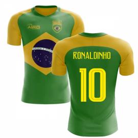 2018-2019 Brazil Flag Concept Football Shirt (Ronaldinho 10)