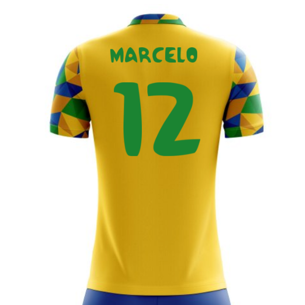 wholesale dealer aa54a fd99d 2018-2019 Brazil Home Concept Football Shirt (Marcelo 12)