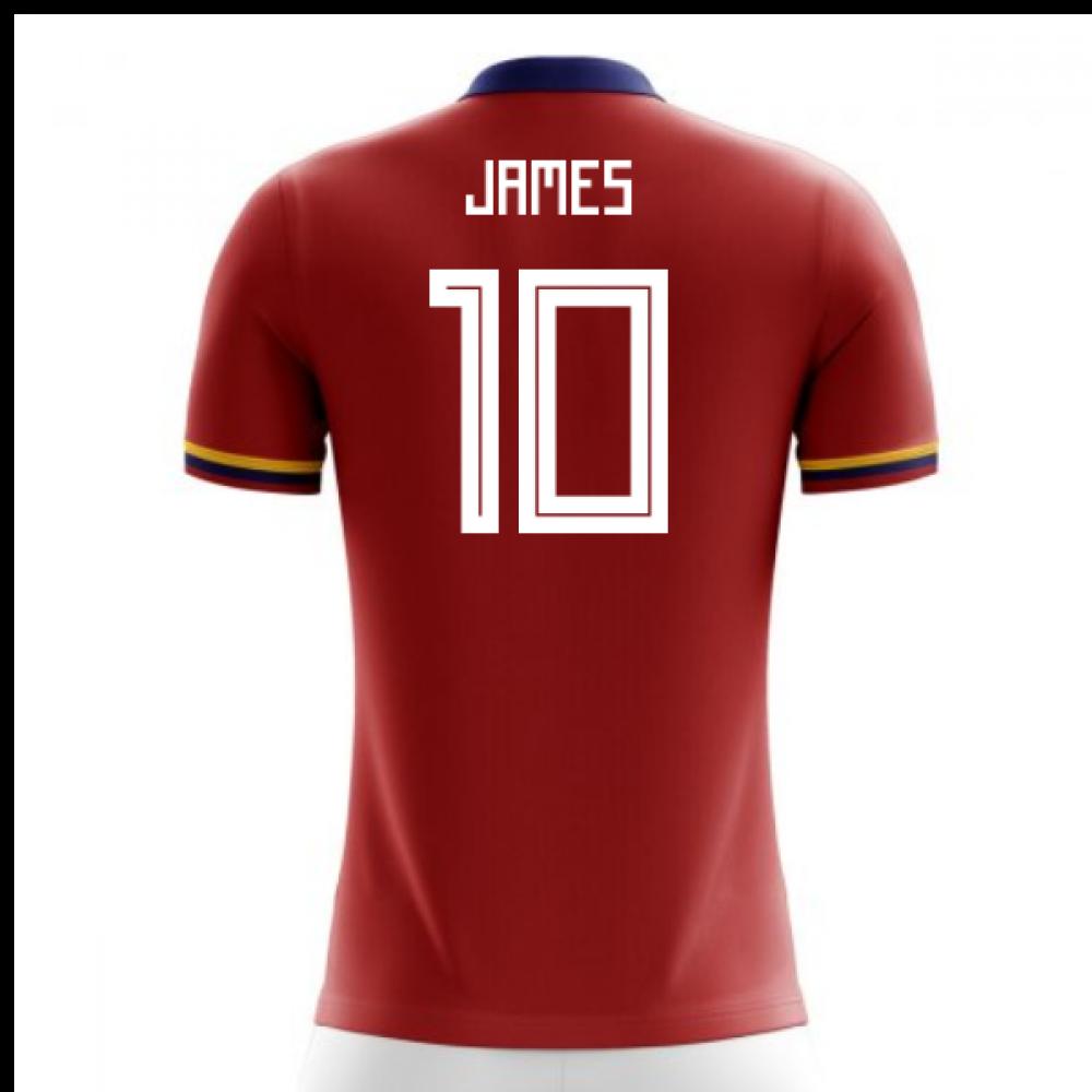 buy popular 0e46b dab2a 2018-2019 Colombia Away Concept Football Shirt (James 10) - Kids