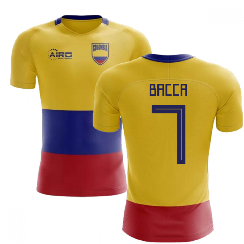 fcdc9175cd1 2018-2019 Colombia Flag Concept Football Shirt (Bacca 7) - Kids