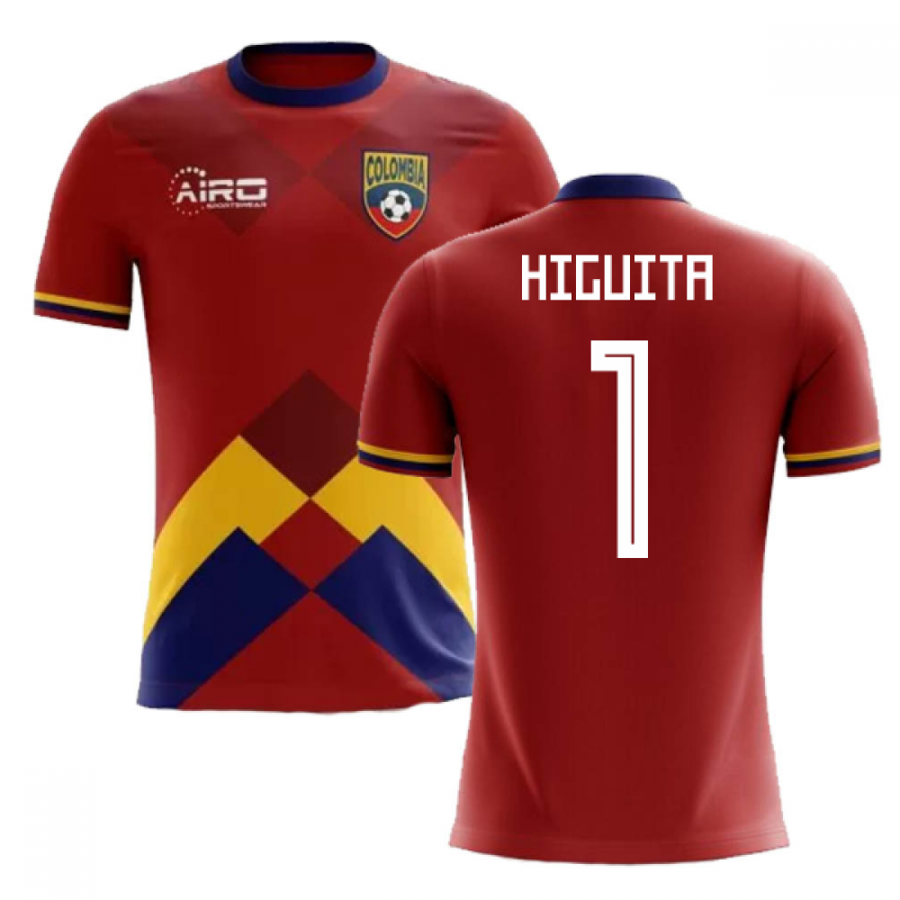 e0113ecbaaf 2018-2019 Colombia Home Concept Football Shirt (Higuita 1) - Kids