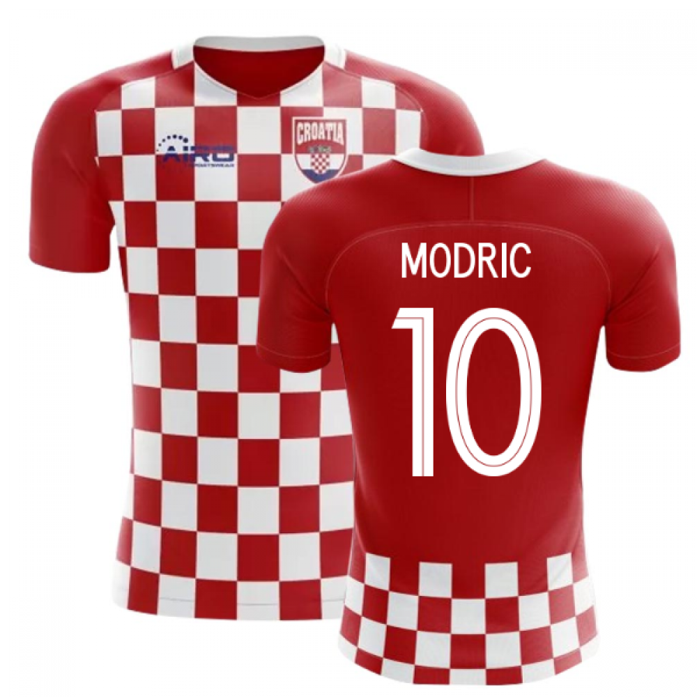 2018-2019 Croatia Flag Concept Football Shirt (Modric 10) - Kids