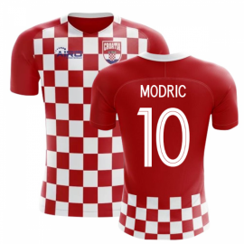 2020-2021 Croatia Flag Concept Football Shirt (Modric 10) - Kids
