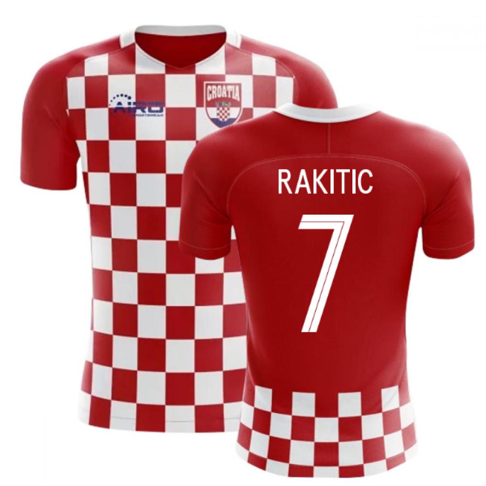 2020-2021 Croatia Flag Concept Football Shirt (Rakitic 7)