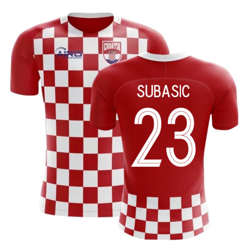 2020-2021 Croatia Flag Concept Football Shirt (Subasic 23) - Kids