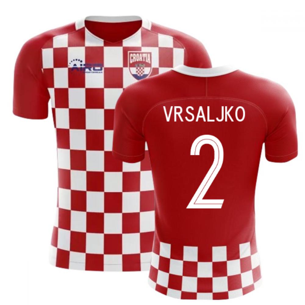 2020-2021 Croatia Flag Concept Football Shirt (Vrsaljko 2)