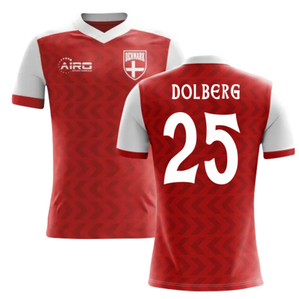 25f12c8f4be 2018-2019 Denmark Home Concept Football Shirt (Dolberg 25)