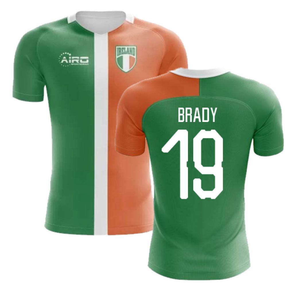 2018-2019 Ireland Flag Concept Football Shirt (Brady 19) - Kids