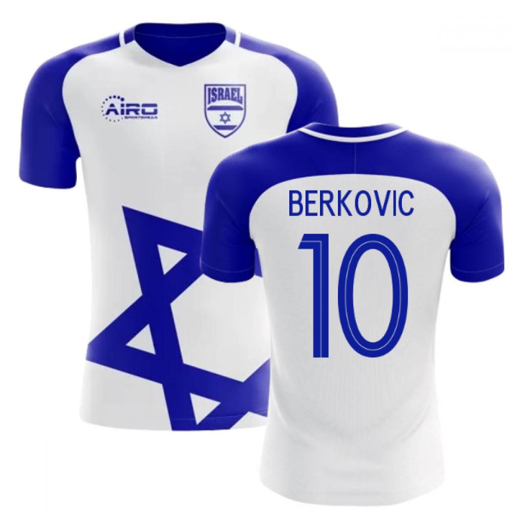 2018-2019 Israel Home Concept Football Shirt (BERKOVIC 10)