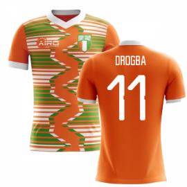 2020-2021 Ivory Coast Home Concept Football Shirt (Drogba 11)