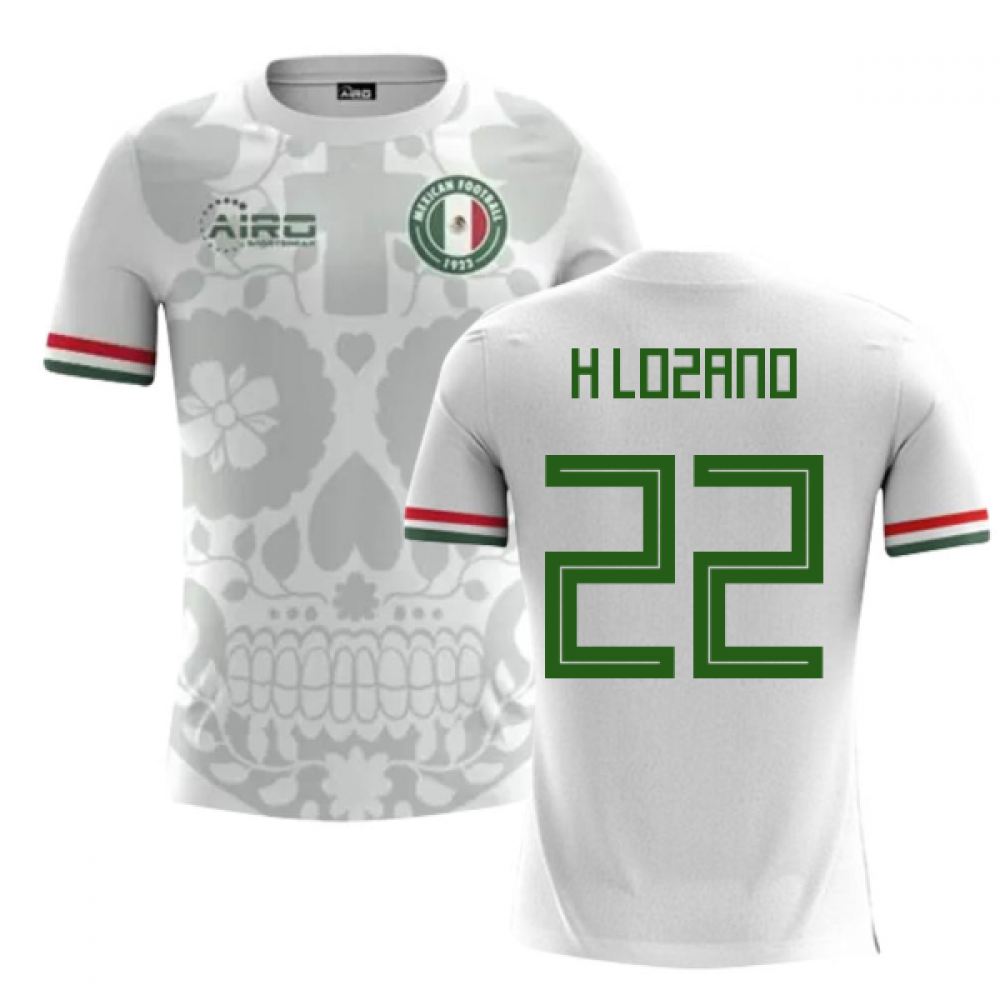 online retailer e4557 05443 2018-2019 Mexico Away Concept Football Shirt (H Lozano 22)